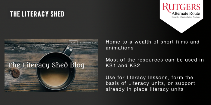 Literacy Shed - Home to a wealth of short films and animations.  Most of the resources can be used in KS1 and KS2 Use for literacy lessons, form the basis of Literacy units, or support already in place literacy units.