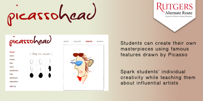 Picassohead - Students can create their own masterpieces using famous features drawn by Picasso Spark students' individual creativity while teaching them about influential artists.
