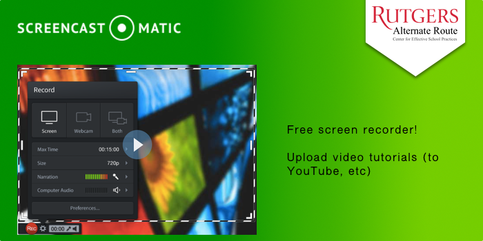 Screencastmatic - Free screen recorder! Upload video tutorials (to YouTube, etc).