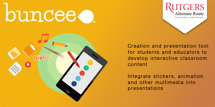 Buncee - Creation and presentation tool for students and educators to develop interactive classroom content. Integrate stickers, animation and other multimedia into presentations.
