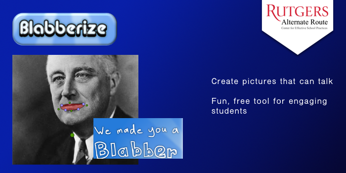 Blabberize - Create pictures that can talk. Free tool for engaging students.