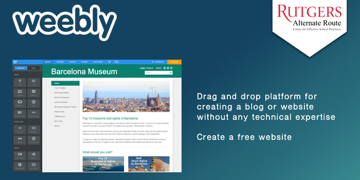 Weebly - Drag and drop platform for creating a blog or website without any technical expertise. Create a free website.