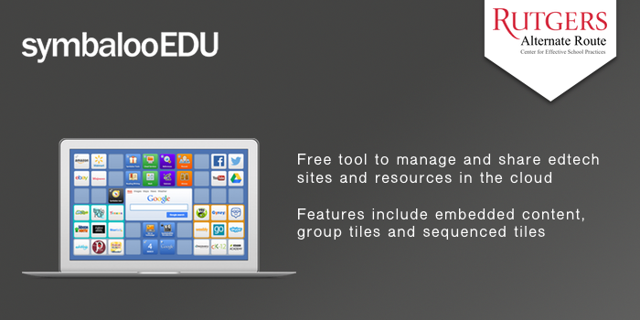 symbalooEDU - Free tool to manage and share edtech sites and resources in the cloud. Features include embedded content, group tiles and sequenced tiles.