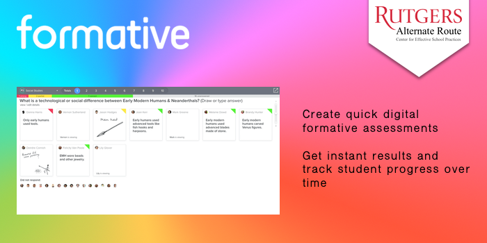 Formative - Create quick digital formative assessments. Get instant results and track student progress over time.