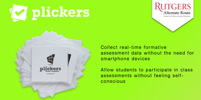 Plickers - Collect real-time formative assessment data without the need for smartphone devices. Allow students to participate in class assessments without feeling self-conscious.