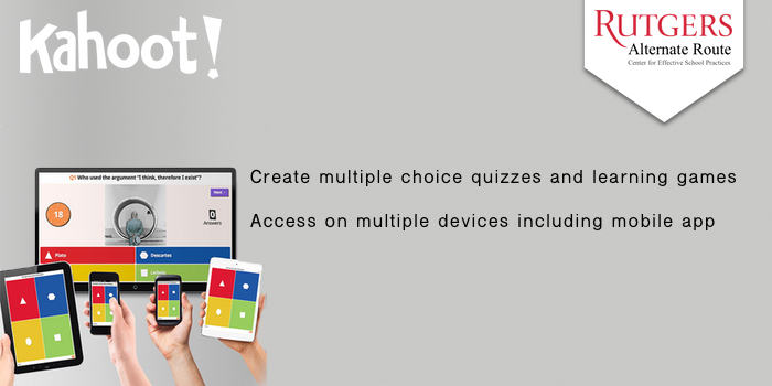 Kahoot - Create multiple choice quizzes and learning games. Access on multiple devices including mobile app.