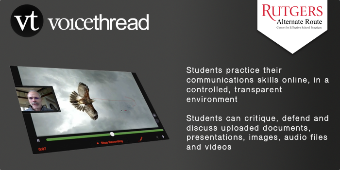 VoiceThread - Students practice their communications skills online, in a controlled, transparent environment. Students can critique, defend and discuss uploaded documents, presentations, images, audio files and videos
