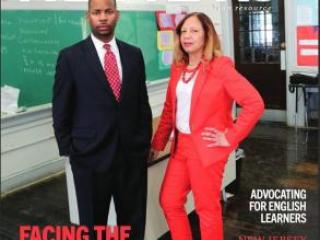 Jerell Blakeley on the cover of New Jersey Education Association Review